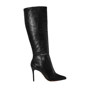 SCHUTZ Magalli Pointed Toe Tall Leather Boots